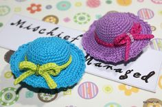 So Many Things to Do, So Little Time: Crochet Mini Hat Hairclip - With Free Pattern