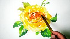 Watercolor Painting - Yellow Rose