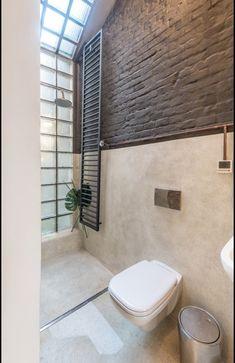 Little Flat Transformation in Lviv by replus design bureau (Design Milk) Bureau Design, Modern Loft, Modern Spaces, Apartamento Loft Industrial, Brick Interior, Design Interior, Dormer Windows, Small Loft, Wet Rooms