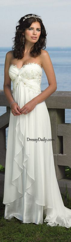 beach wedding dress #wedding dress