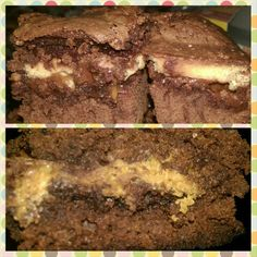 Twix & Reeses loaded brownies