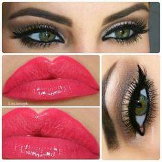 Angelina Jolie makeup look!  For my deep set, green eyes.