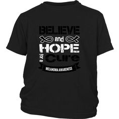 Believe & Hope for a cure... - Kids T-shirt