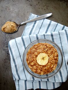 The Oatmeal Artist: Peanut Butter and Banana Baked Oatmeal