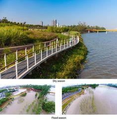 Yanweizhou Park in Jinhua City by Turenscape