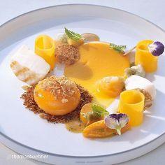 "#finestfood #finedining #food #foodporn #gourmet #instagramfood #chef #foodart #lovefood #artofplating #instafood #yummy #foodpic #photooftheday #instagourmet #dinner #lunch #dessert #instacool #taste #art #goodeats #gastronomy #love #luxury #cook #cooking #foodgasm #instagood  #FBF Revisit: By @thomasbuehner ""Grilled coquille Saint Jacques, sweet potatoes & butternut pumpkin, smoked egg yolk"""