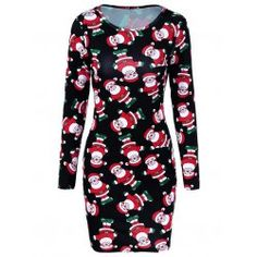 SHARE & Get it FREE | Santa Claus Print DressFor Fashion Lovers only:80,000+ Items • FREE SHIPPING Join Twinkledeals: Get YOUR $50 NOW!
