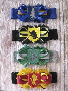 Bridal Party Harry Potter Garter Set Wedding by GeekyGarters