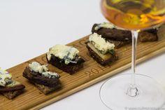 Süßer Bordeaux zu Saint Agur Häppchen mit Portobello Pilzen #bordeauxlicious #Süßwein #Foodpairing