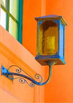 Cottage Charm ~ blue and orange
