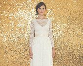 Half Sleeved Lace Wedding Dress -Ami Dress - Made to Order. $500.00, via Etsy.