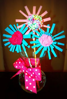 Toilet Paper Tube Flowers: An Earthday Project
