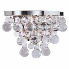 Bathroom Sconces With Bling utopia large sconce | kelly wearstler, lights and cabin fever