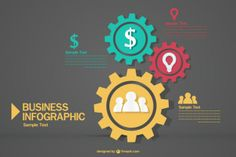 Sample text business infographic
