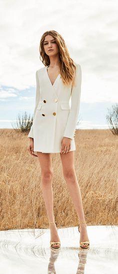 f51f30b3215 Betty Double-Breasted Wrap Effect Mini Dress