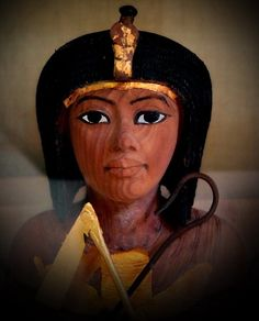 Detail of one of hundreds of shabti found in the Tomb of Tutankhamun.