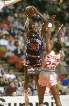 New York Knicks Bernard King (30) in action, shot vs Houston Rockets Rodney McCray (22) at The Summit.Houston, TX 2/4/1984CREDIT: Andy Hayt