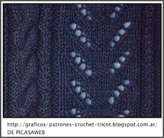 http://graficos-patrones-crochet-tricot.blogspot.com.ar/    puntos tejidos a dos agujas con su patron =   tissues points to two needles with your employer