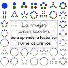 La animación gráfica te servirá para mostrar la belleza de las matemáticas y para aprender a factorizar en números primos visualmente.