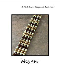 duo bead bracelet patterns | Beaded Bracelet Tutorial, RAW using Super Duos, Bead Pattern, Step by ...