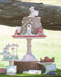 Woodland Fairy Party via Kara's Party Ideas : The Enchanting treehouse cake