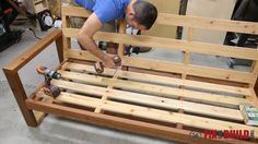 attaching back to modern outdoor couch
