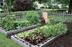 Raised Garden Bed using Besser or Cinder Blocks