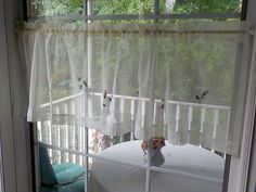 Window Toppers, Table Toppers, Porch Enclosures, Embroidered Bird, Vintage Curtains, Table Centerpieces, Valance Curtains, Linens, Windows