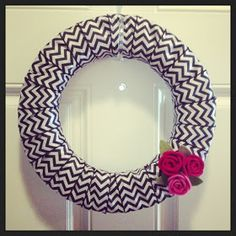 The Journey...: DIY Ribbon Wreath. A good way to use all my pretty wired ribbon!