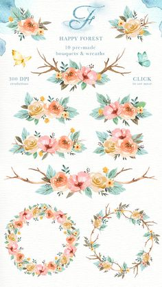 Animals and Flowers Watercolor Clip Art Woodland Animals in flower crown drawing Clipart Flower Crown Drawing Happy forest Watercolor Clip Art Woodland Animals Kids Flower Crown Drawing, Flower Art, Drawing Flowers, Art Flowers, Arte Floral, Watercolor Texture, Watercolor Flowers, Painting Flowers, Bird Illustration