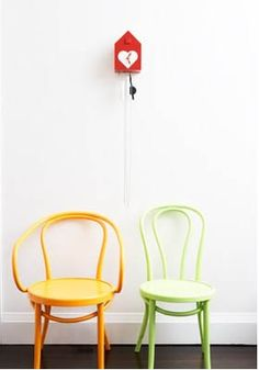 yellow Vienna chair