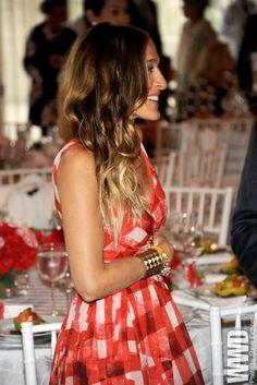 SJP in a lovely picnic dress.