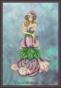 Lady Violett cross stitch pattern http://crossstitchingart.com/lady-violett.html