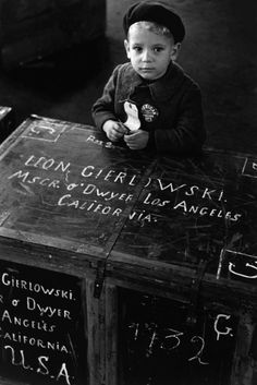 """"""" USA. New York City. Immigrants. 1951. A new face for the new world. """" © Dennis…"""
