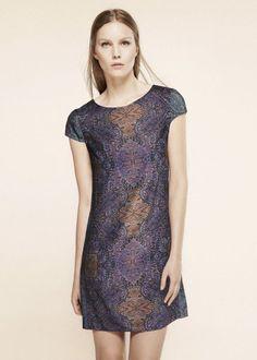 Vestido pañuelo Mango Zoco - Talla/Size S - Scarf print shift dress - NUEVO NEW