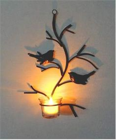 Wall Hanging Candle Holder with Led | I found an amazing deal at fashionandyou.com and I bet you'll love it too. Check it out!