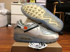 goVerify Genuine Seller <23_Sneakerheadz> One of our favorite sellers on eBay. For Sale: Nike Off-White Air Max 90. Air Max 90, Nike Air Max, China Fashion, Cross Training, Off White, Beige, Running, Sneakers, Model