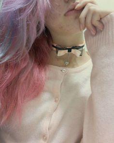 #collar #pinkhair #purplehair #pink #kawaii