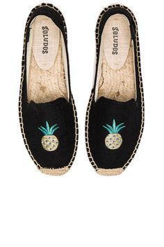 105a992fc Soludos Smoking Slipper Embroidery in Pineapple Black Estilo Hippie Chique