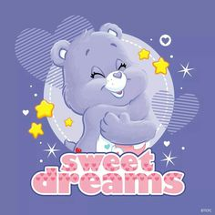 Cute Good Night, Good Night Sweet Dreams, Good Morning Good Night, Good Night Greetings, Good Night Wishes, Bear Cartoon Images, Care Bears Vintage, Care Bear Party, Christmas Nativity Scene