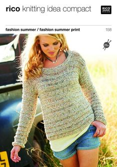 Sweater and Top in Rico Fashion Summer and Summer Print - 158
