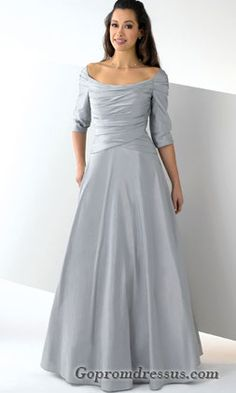 Wedding dress online shop - Taffeta Elegant Ruched Bodice with Elbow Length  Sleeves and Floor Length A Line Skirt Hot Sell Silver-Grey 2011 Bridesmaid  Dress e62d221d520f