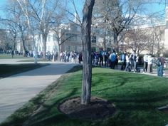 BYU testing center line during middle of final exams at 2 pm. Winter semester 2013