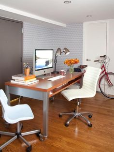 Small Home Office Ideas | Decorating and Design Ideas for Interior Rooms | HGTV