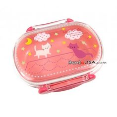 super cute pink cat bento box for under $4! --All Things For Sale