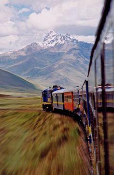 Michael Trezzi  Andese Train, 2002    Gorgeous train. Nice mountains.