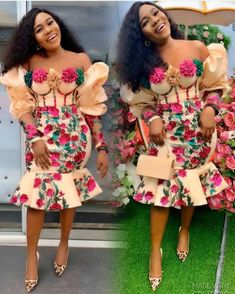 2020 Ankara Dresses Styles: Beautiful Ankara Styles To Rock - Dabonke : Nigeria Latest Gist and Fashion 2019 Nigerian Dress Styles, Ankara Dress Styles, Trendy Ankara Styles, Ankara Gowns, Nigerian Lace, African Lace Dresses, Latest African Fashion Dresses, African Print Fashion, Ankara Fashion
