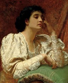 """""""Oh for the Touch of a Vanished Hand,"""" ca. 1870 ~ Charles Edward Perugini, (English 1839-1918). Protege of Leighton; married Charles Dickens' youngest daughter, Kate (Perugini) who was also a successful artist."""