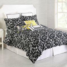Trina Turk® Louis Nui Duvet Cover Set in Black - BedBathandBeyond.com