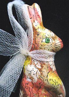 Rabbit Primitive Folk Art Storybook Rabbits Set of by FolkArtWorks